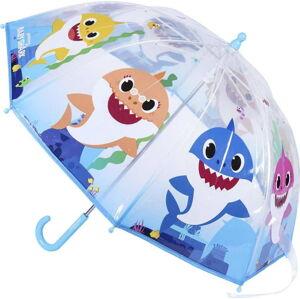 Transparentní dětský deštník Ambiance Baby Shark, ⌀71cm