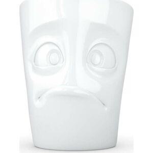 Bílý bezradný porcelánový hrnek s ouškem 58products