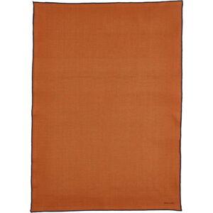 Oranžová bavlněná kuchyňská utěrka Bitz Organic,80x55cm