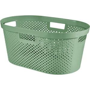 Zelený koš na prádlo CURVER Infinity Hamper,40l