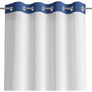 Bílo-modrý závěs AmeliaHome Irvelette Eyelets,140x250cm