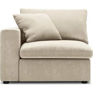 Béžová rohová část modulární pohovky Windsor & Co Sofas Galaxy, levý roh