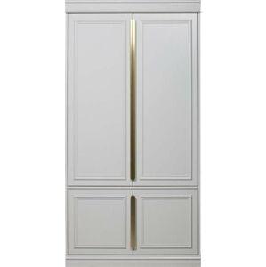 Bílá šatní skříň z masivního borovicového dřeva BePureHome, šířka62cm