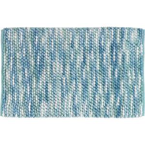 Modrá koupelnová předložka s příměsí bavlny Wenko Urdu,60x90 cm