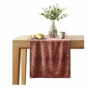 Červený běhoun na stůl se sametovým povrchem AmeliaHome Veras,40x140cm