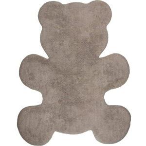 Dětský hnědý ručně vyrobený koberec Nattiot Little Teddy, 80x100cm