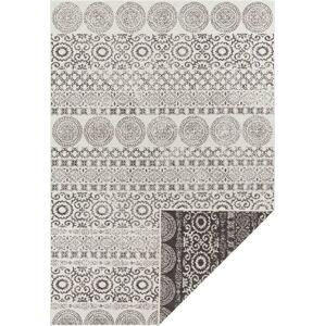 Hnědo-bílý venkovní koberec Ragami Circle, 80 x 150
