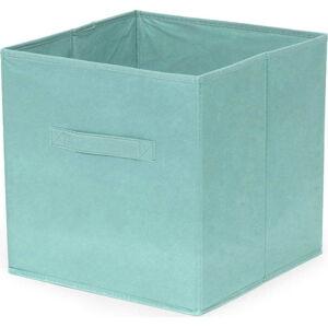 Tyrkysový skládatelný úložný box Compactor Foldable Cardboard Box