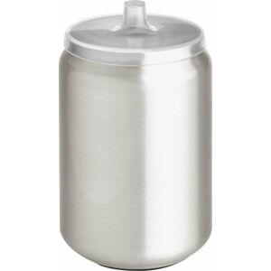 Černá dóza stříbrné barvy s víčkem iDesign Austin