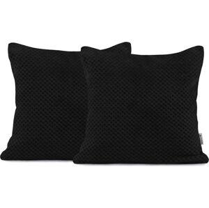 Sada 2 černých dekorativních polštářů z mikrovlákna DecoKing Henry,45x45 cm