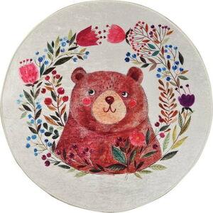 Dětský protiskluzový koberec Chilai Bears Garden,ø140cm