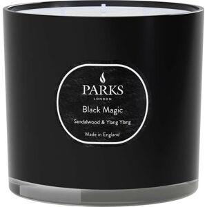 Svíčka s vůní santalového dřeva a Ylang Ylang Parks Candles London Black Magic, doba hoření 56 h