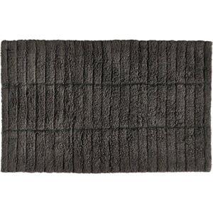 Tmavě šedá bavlněná koupelnová předložka Zone Tiles,80x50cm