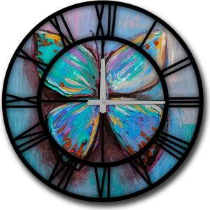 Nástěnné hodiny HomeArt Butterfly,ø50cm