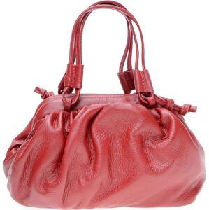 Červená kožená taška přes rameno Isabella Rhea