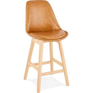 Hnědá barová židle Kokoon Janie Mini, výškasedu65cm