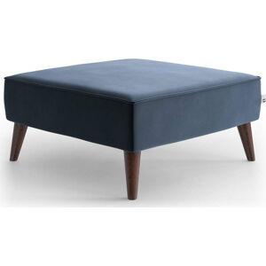 Tmavě modrá sametová podnožka My Pop Design Auteuil