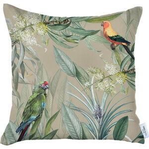 Béžový povlak na polštář Mike & Co. NEW YORK Jungle Birds,43x43cm