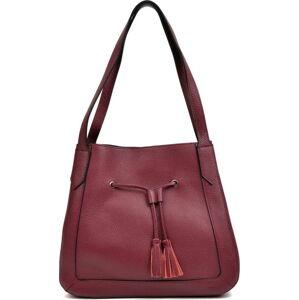 Červená kožená kabelka Roberta M Anete