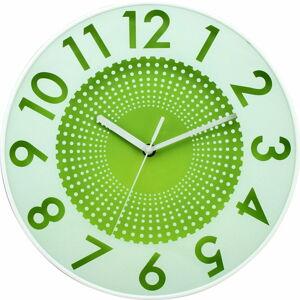 Zelené nástěnné hodiny Postershop Infinity,ø30cm