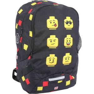 Černý školní batoh LEGO® Faces