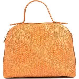 Hnědá kožená kabelka na dva zipy Isabella Rhea