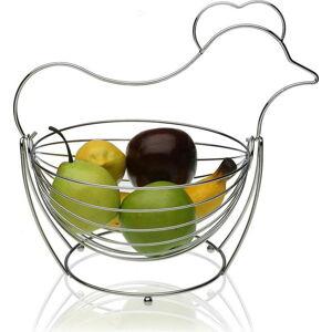 Ocelový košík na ovoce Versa Chrome