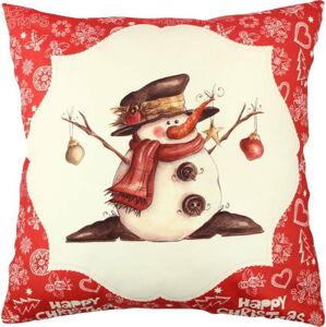 Polštář Snowman Red&White, 43x43cm