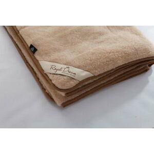 Světle hnědá deka z merino vlny Royal Dream Quilt,160x200cm
