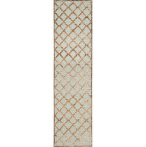Hnědý koberec Safavieh Anguilla, 66x243cm