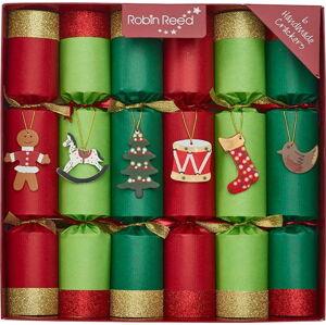 Sada 6 vánočních crackerů Robin Reed Toy