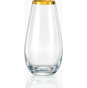 Skleněná váza Crystalex Golden Celebration, výška 24,5 cm