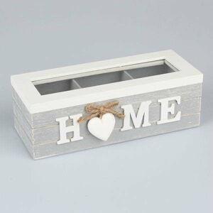 Dřevěná krabička na čaj Dakls Home With Heart