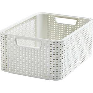 Bílý úložný košík CURVER Style,18l