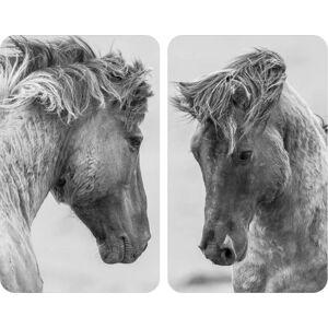Sada 2 šedých krytů na sporák Wenko Horses,52x30cm