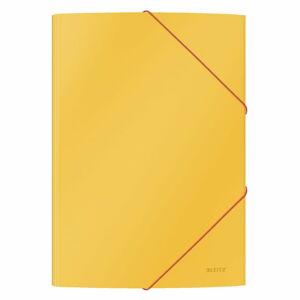 Sada 6 žlutých kancelářských desek s hebkým povrchem Leitz Cosy, A4