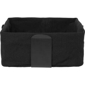Černý textilní košík na chléb Blomus Bread, 26 x 26 cm