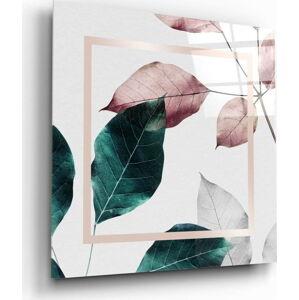 Skleněný obraz Insigne Skandinavian Style Leaves,60 x60cm