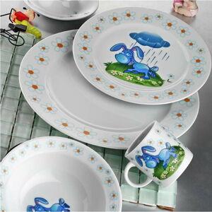 5dílný dětský porcelánový jídelní set Kütahya Porselen Donkey