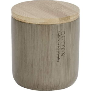 Dóza s bambusovým víkem na vatové tamponky Wenko Palo