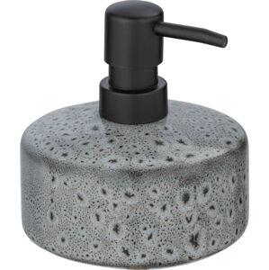 Šedý keramický dávkovač mýdla Wenko Oviedo