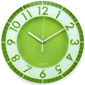 Zelené nástěnné hodiny Postershop Moderna,ø30cm