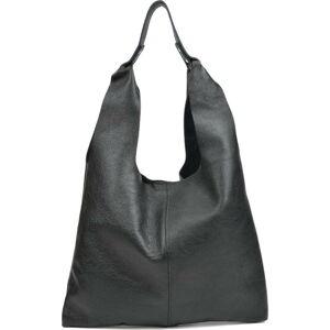 Černá kožená kabelka Sofia Cardoni