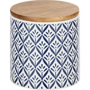Keramický úložný box s bambusovým víkem Wenko Lorca, 450ml