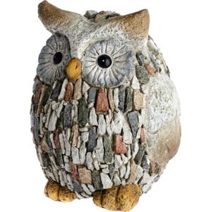 Zahradní dekorace Dakls Garden Deco Owl With Stones, výška 22 cm