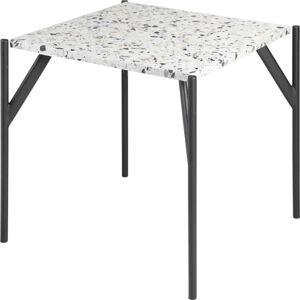 Příruční stůl s deskou z materiálu teraco RGE Terrazzo Cosmos, 50x50cm