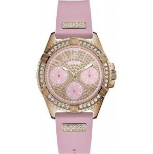 Dámské hodinky s růžovým silikonovým páskem Guess W1160L5