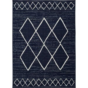 Tmavě modrý venkovní koberec Universal Elba, 80 x 150 cm