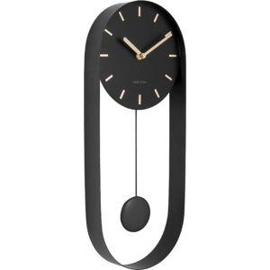 Černé kyvadlové nástěnné hodiny Karlsson Charm