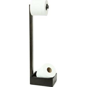 Stojan na toaletní papír z dubového dřeva Wireworks Mezza Dark